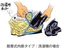 可拆裝式內襯:以洗衣機清洗時