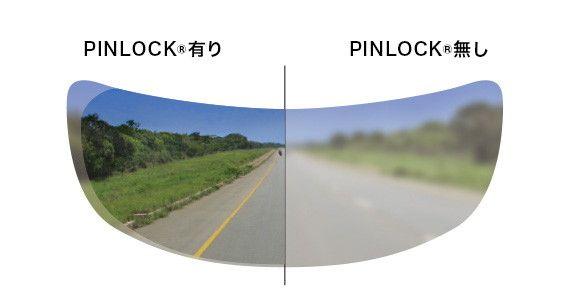 CWR-F PINLOCK(R) EVO lensの視界
